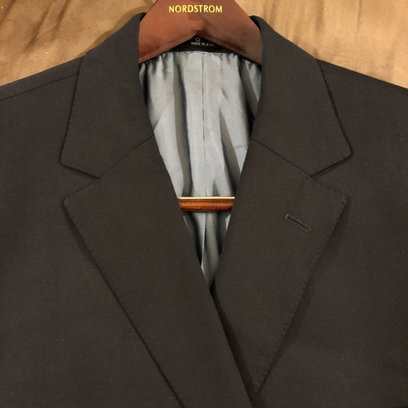 868d7772b Hugo Boss Suits & Blazers | Solid Navy Blue Blazer 48l Long | Poshmark
